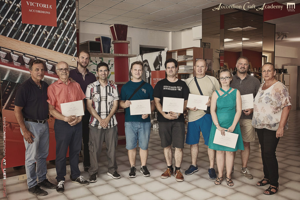 Corso per Riparatori di Fisarmoniche, Livello 2, Giugno 2017
